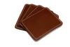 Wood Bark European Leather Coaster