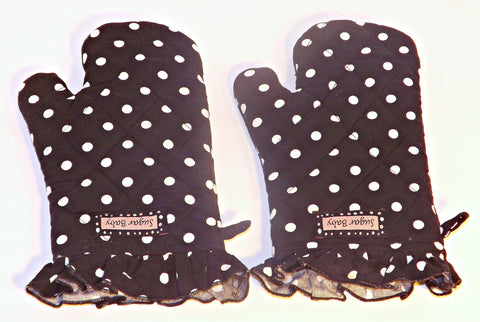 Sugar Baby Oven mitts - Party Girl Polka Dot style