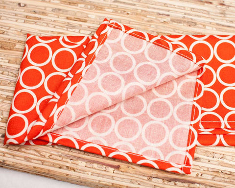 Metro Living cloth napkins in dark orange