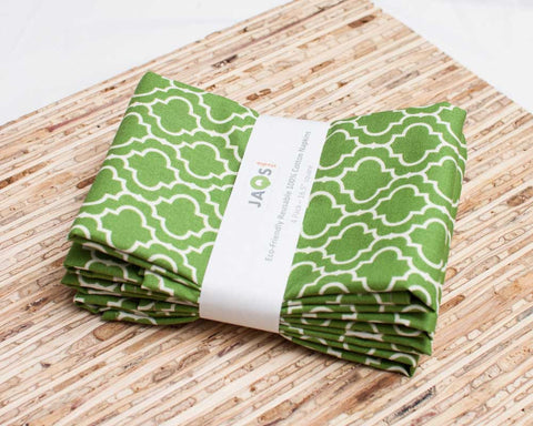 100% Cotton Tile Green Pattern