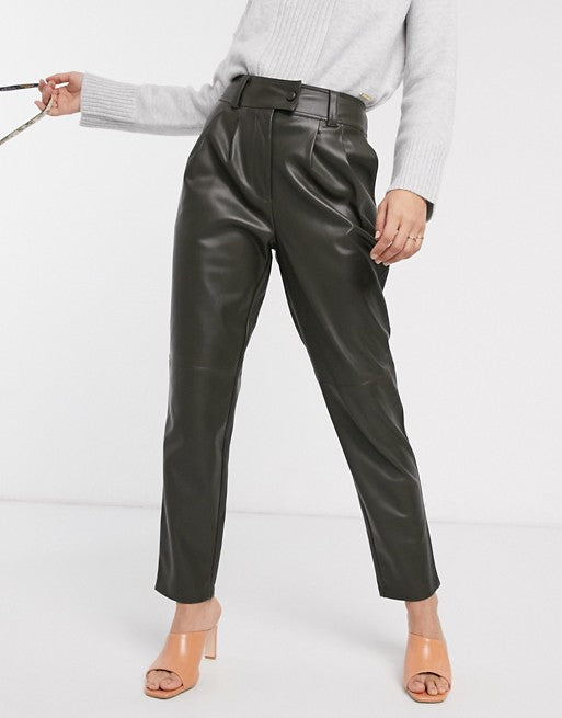 Leather Pegged Pants