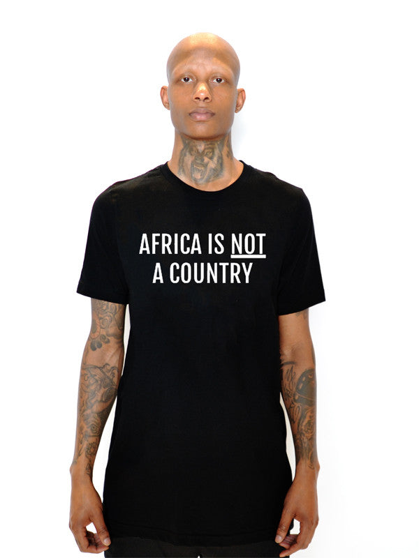AFRICA IS NOT A COUNTRY TEE - POP CAVEN