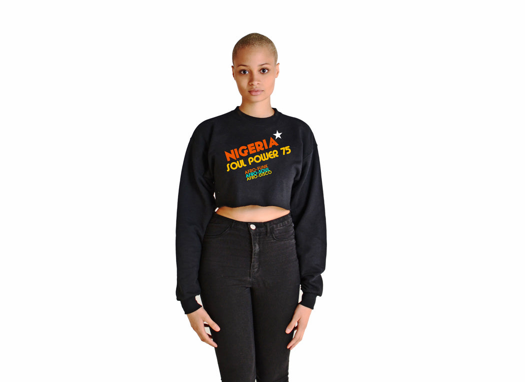 SOUL POWER CROP SWEATSHIRT - POP CAVEN