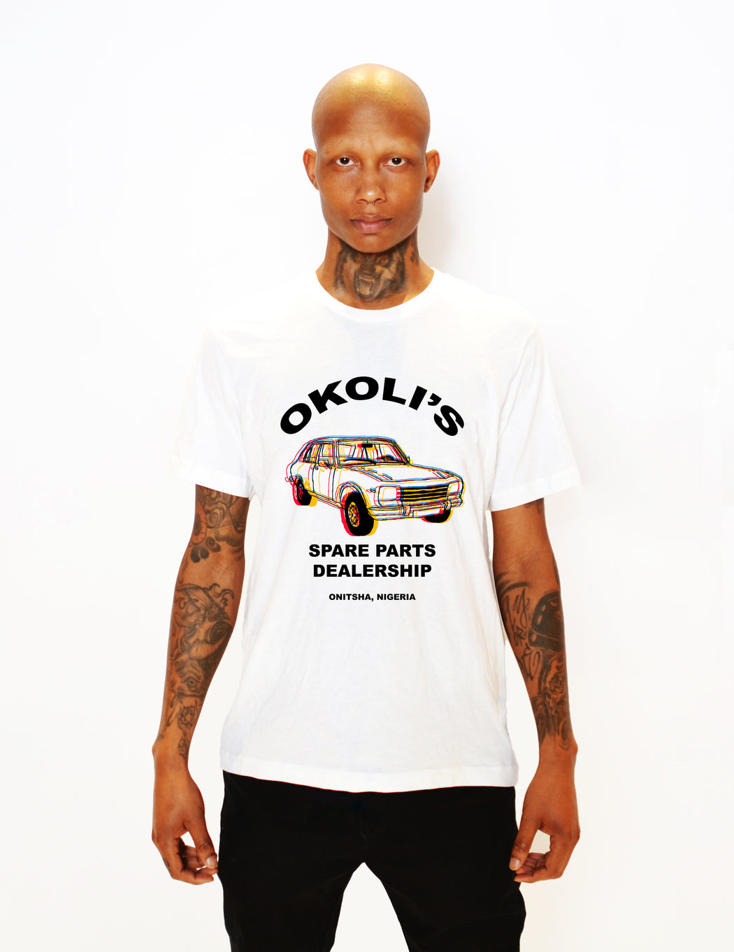 OKOLI'S SPARE PARTS T-SHIRT - POP CAVEN