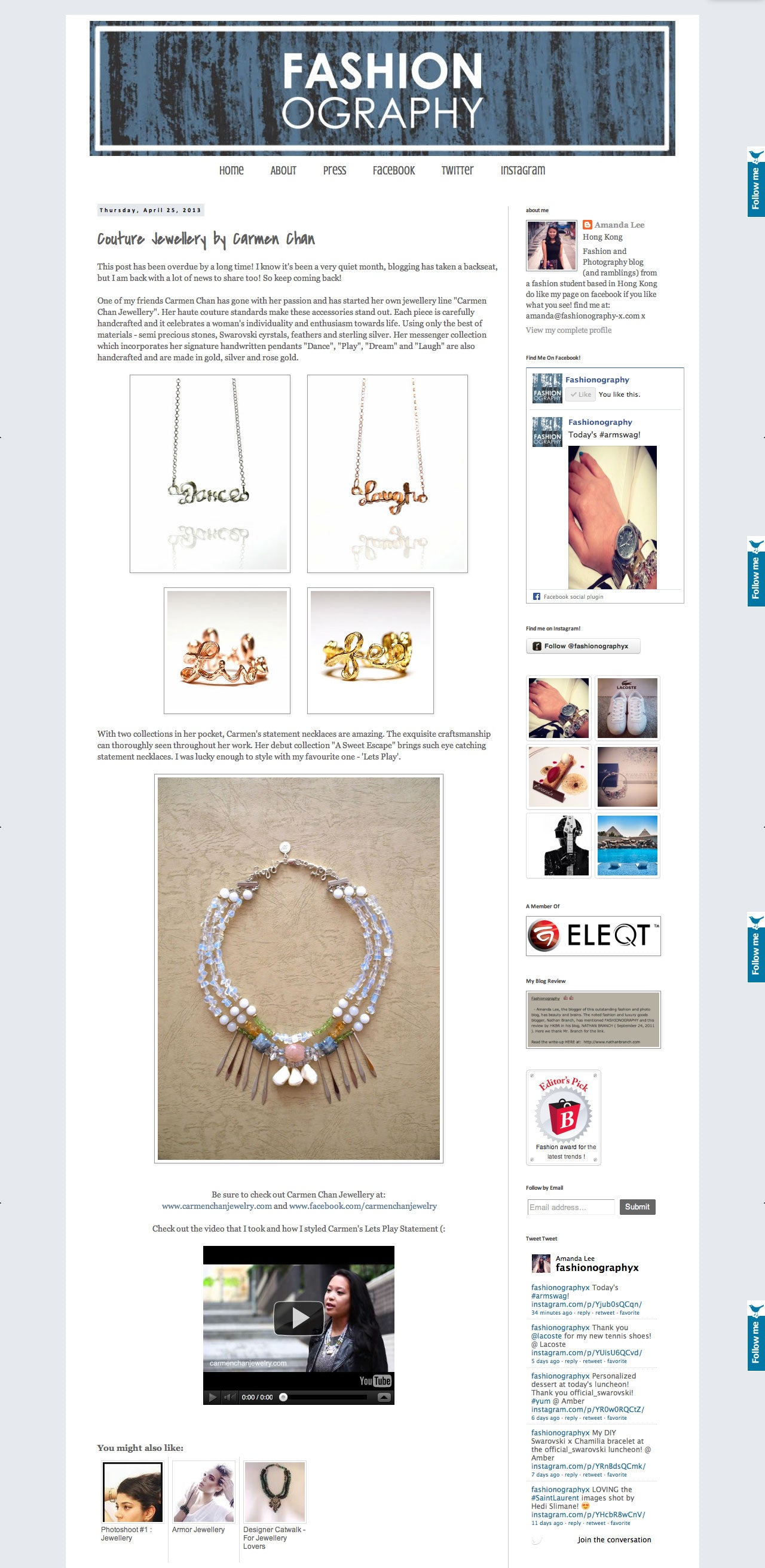 Carmen Chan Jewelry featured in Fashionography