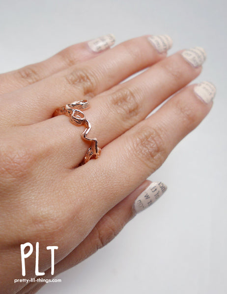 Carmen Chan Jewelry Feel Love 18K rose gold plated ring, worn by Adeline T from Pretty Lil Things
