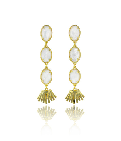 Topio Earrings - Mother of Pearl