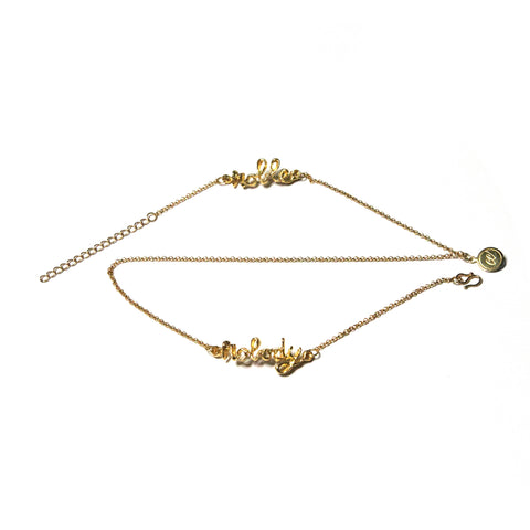 Noble Nobody Bracelet/ Necklace - 18K Yellow Gold Plated