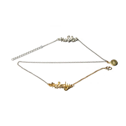 Noble Nobody Bracelet/ Necklace - Half Silver Half Gold Plate (Online Exclusive)