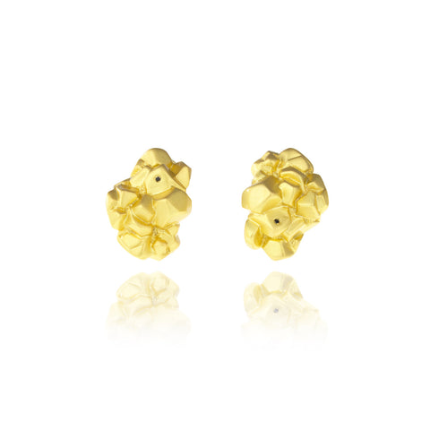 Rock Earrings - Matt Gold
