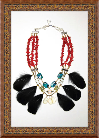 carmen chan jewel debut collection lets dance boho red statement necklace