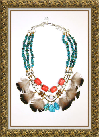 carmen chan jewel debut collection lets dance turquoise bird statement necklace