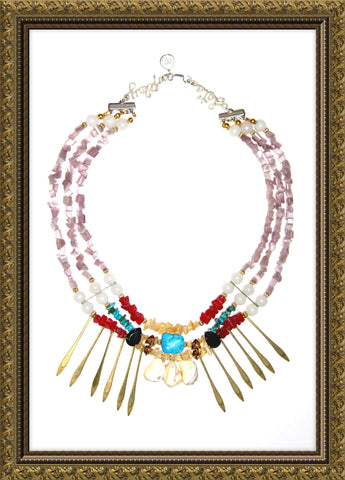 carmen chan jewel debut collection a sweet escape let's play indiana girl statement necklace handcrafted jewelry