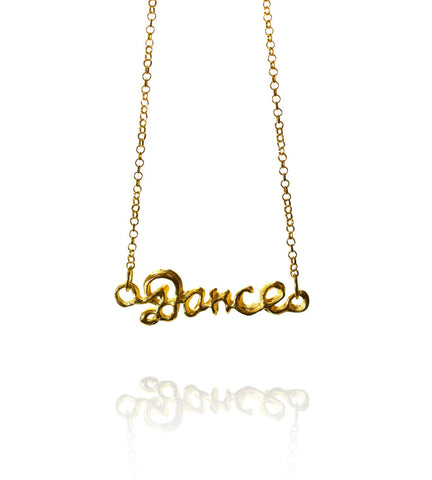 Pendant Necklace | Dance | 18K Yellow Gold Plated Sterling Silver