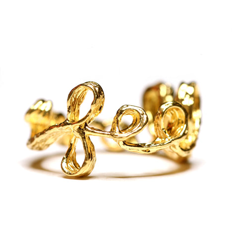 Ring | Feel Love | 18K Yellow Gold Plated Sterling Silver