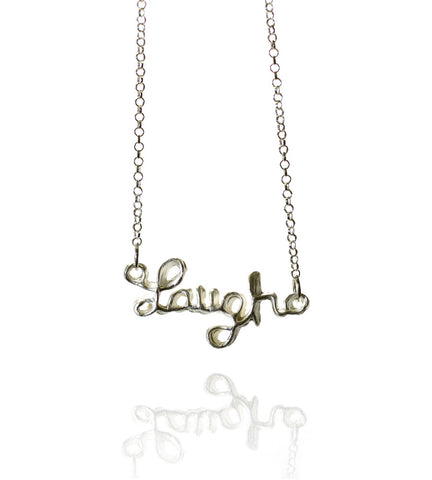 Pendant Necklace | Laugh | Sterling Silver