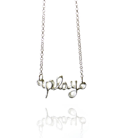 Pendant Necklace| Play | Sterling Silver