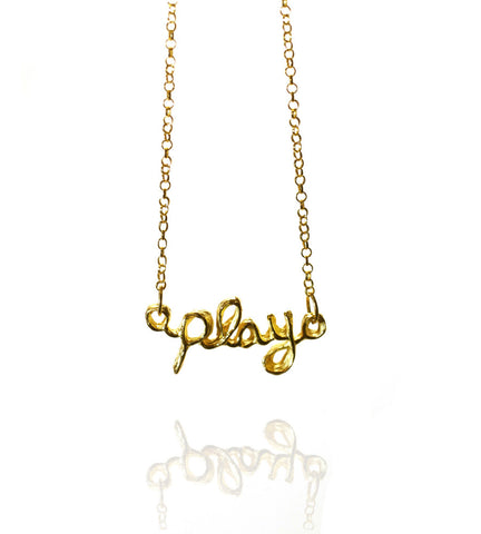 Pendant Necklace | Play | 18K Yellow Gold Plated Sterling Silver