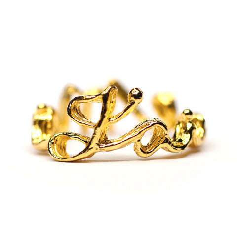 Ring | J'aime. Moi. | 18K Yellow Gold Plated Sterling Silver