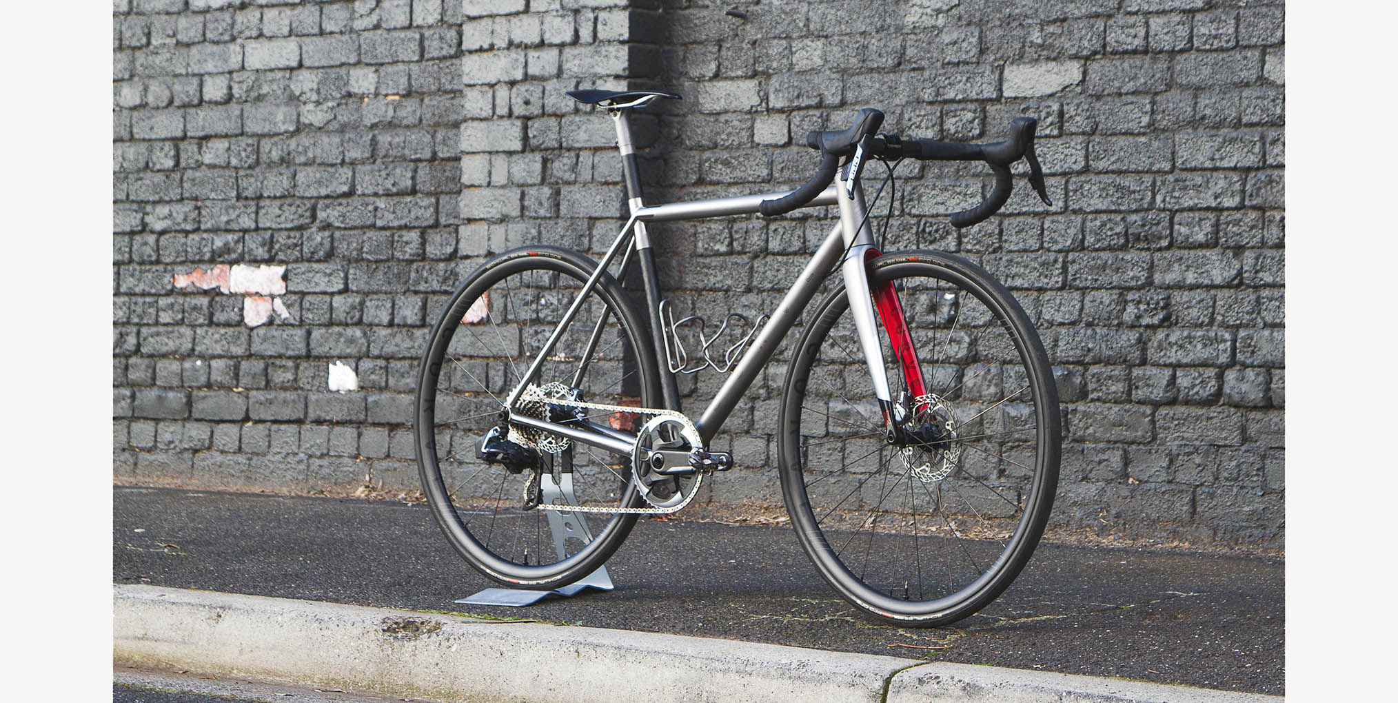 Belgie Air Titanium Carbon Road Bike collab with Bastion Cycles