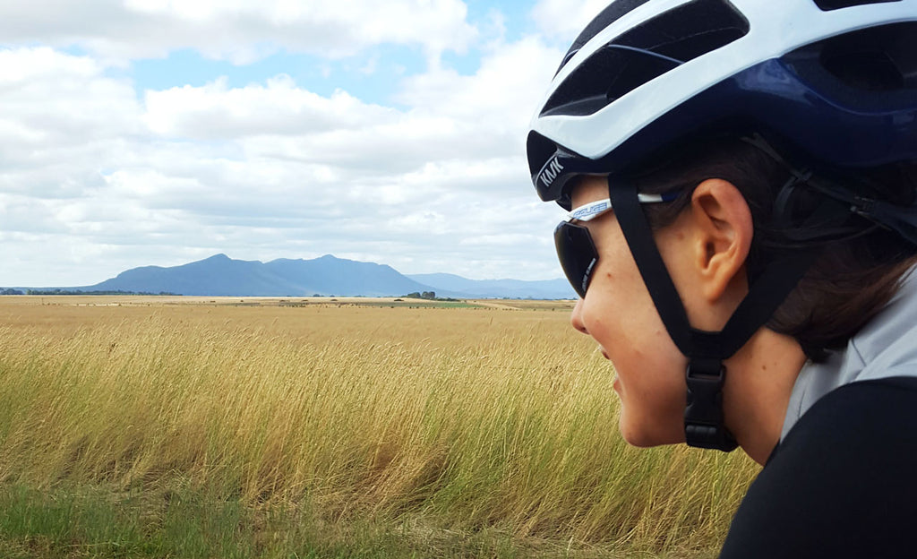 Lisa Jacobs riding on the 800km TDU Pilgrimage