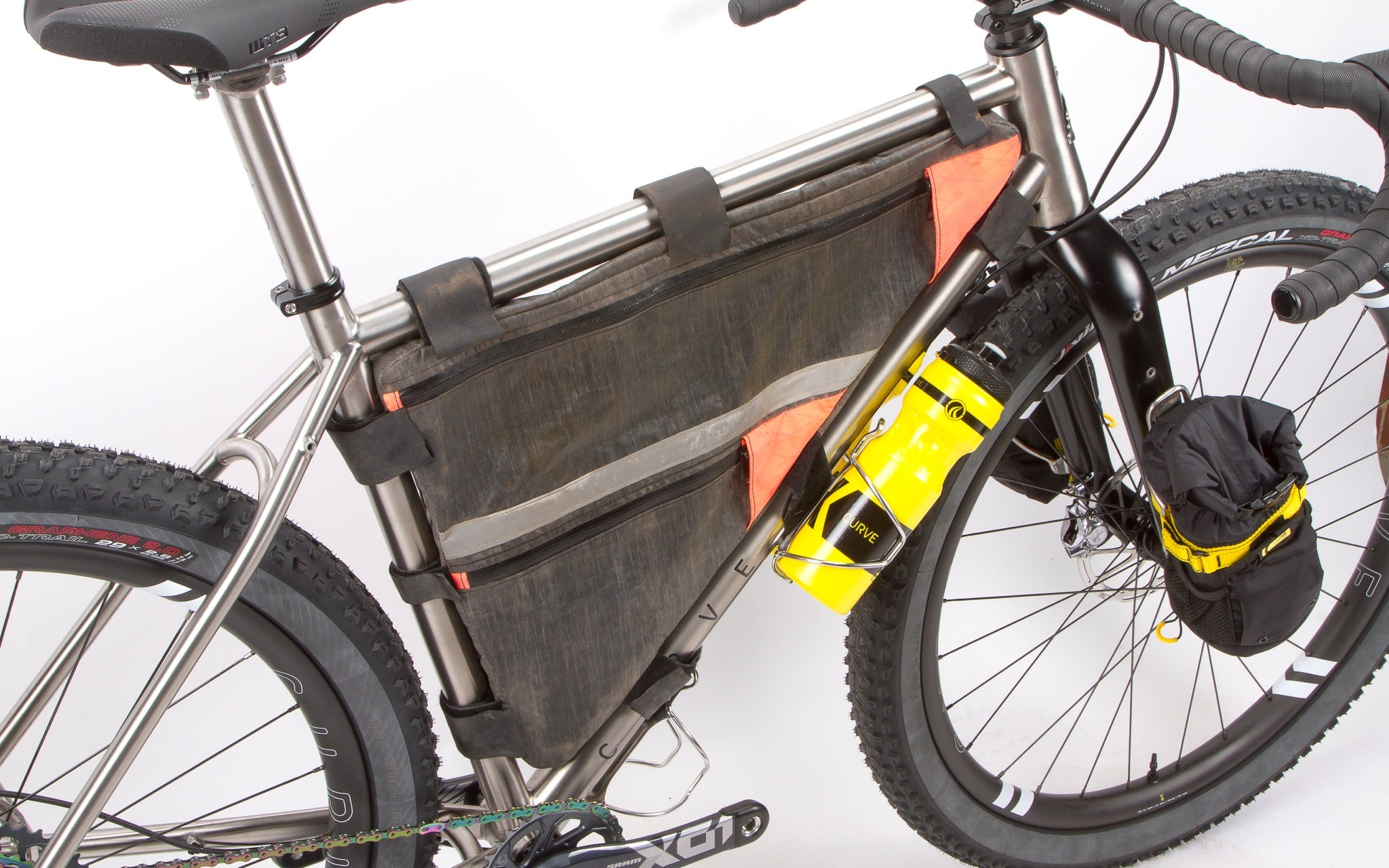 Curve GMX+ Titanium bikepacking bags loaded