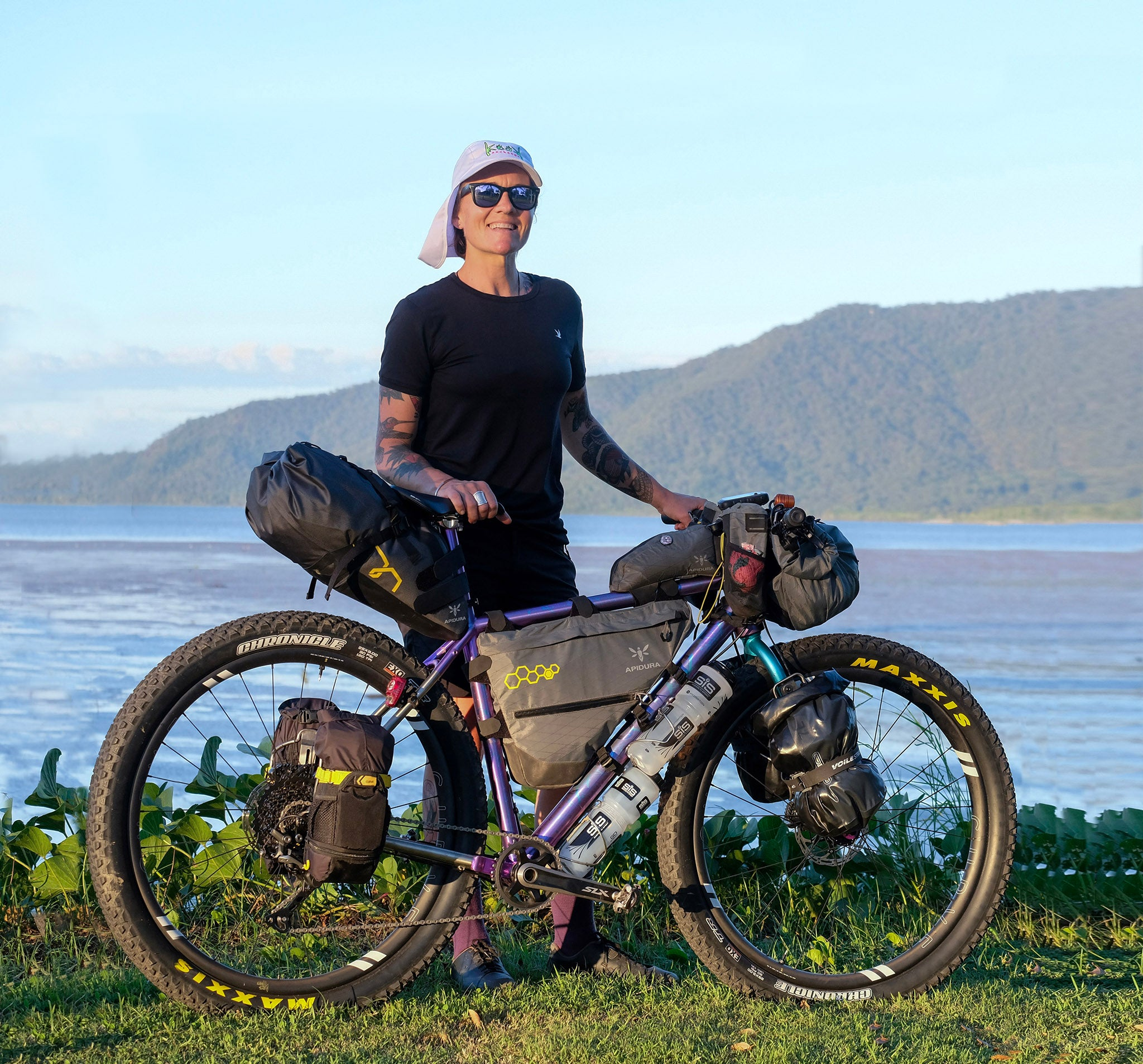 Sarah Hammond GMX+ titanium bikepacking bike