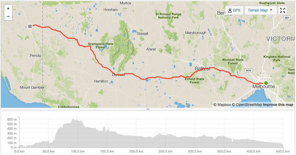 Day 1 - Ride Melbourne to Adelaide