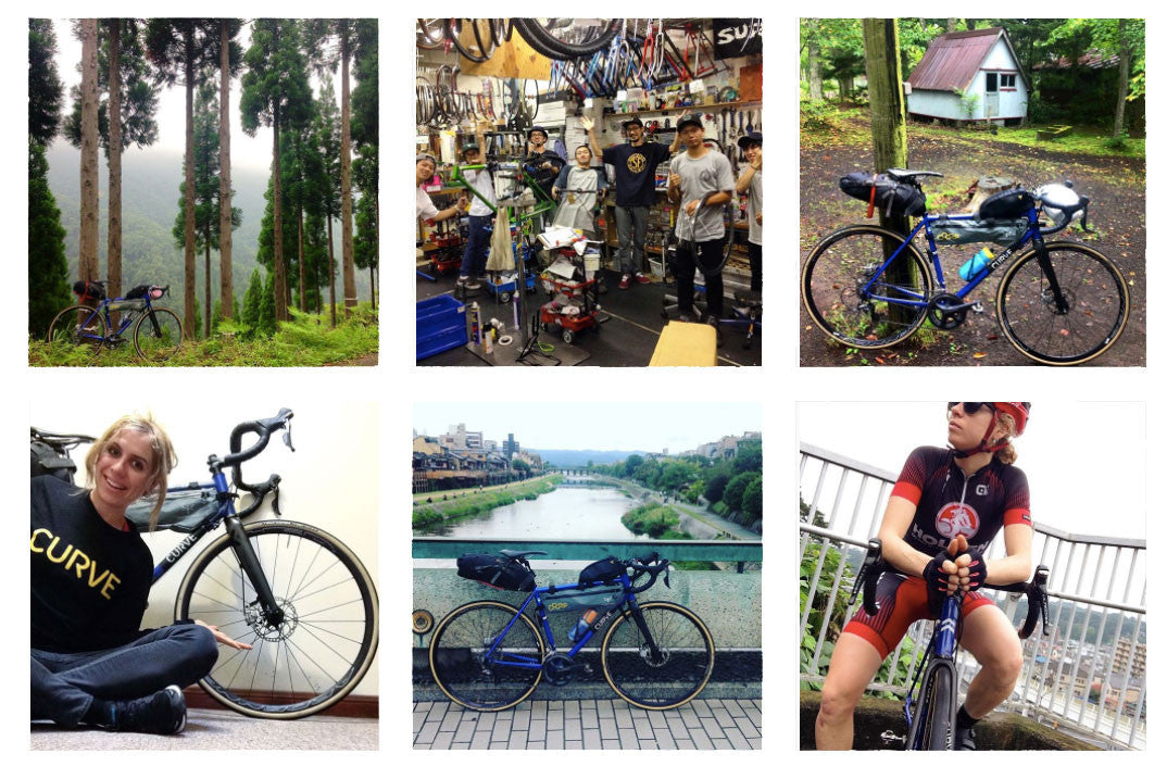 Brodie on the Belgie Spirit Cycling through Japan