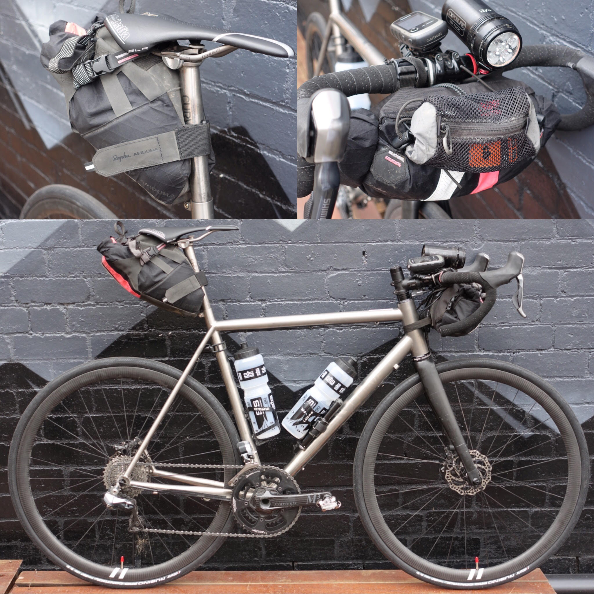 Curve Cycling Belgie Titanium Indian Pacific Wheel Race Bike Packing Set Up