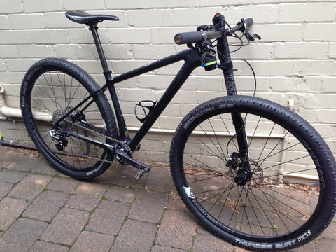 Open AAX with Curve 29er Carbon Wheels