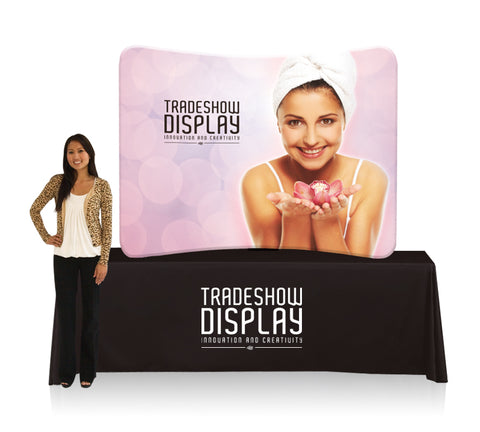 6 Ft. Smart Curve Tube Tabletop Display & Graphic Package
