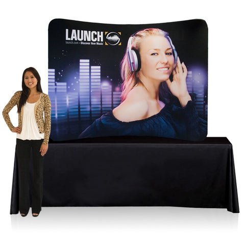 8 Ft. SMART Curve Tube Tabletop Display & Curve Graphic Package