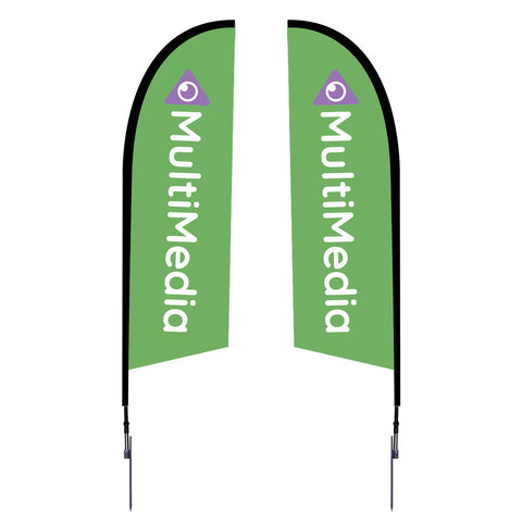 Outdoor Flags - 8.25'. 10.5', 14', 17' Spike Base Double-Sided Graphic