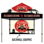 10 Ft. Aluminum Canopy Tent and Graphic