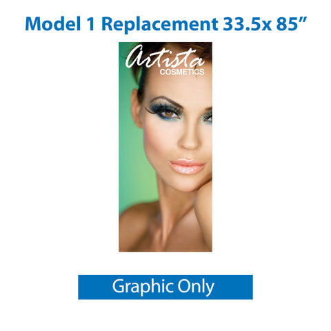 "Legacy Model 1 33.5 x 85"" Replacement Graphic only"