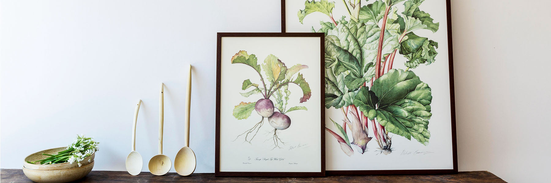 Elizabeth Cameron prints vegetables art