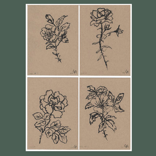 Set of Rose Postcards