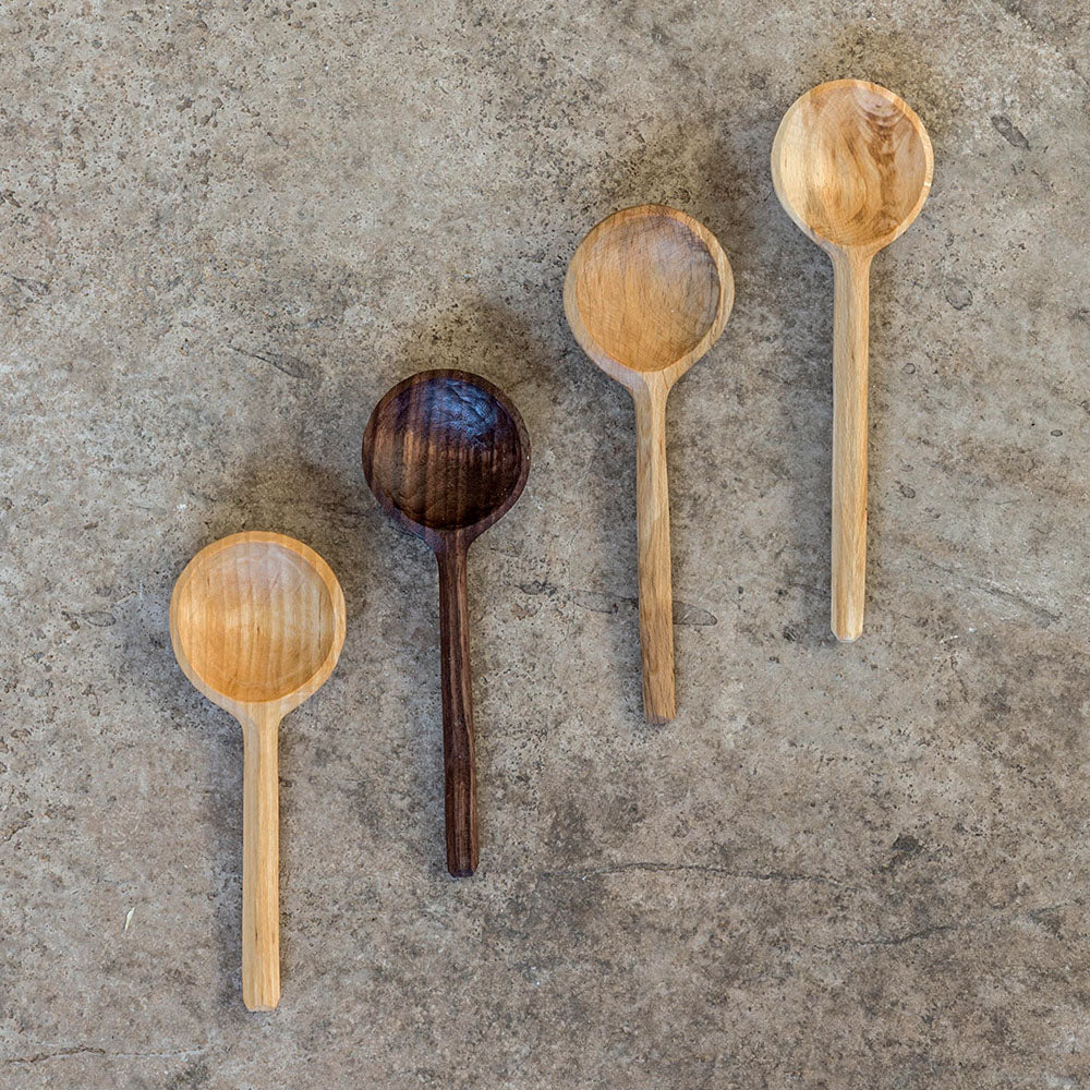 hand carved coffee scoops