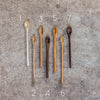hand carved wooden spoons numbered