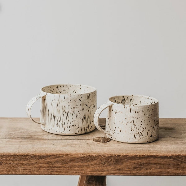 barton croft mug handmade speckle pair
