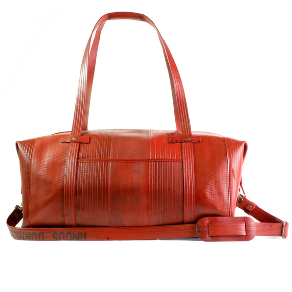 elvis kresse rescued firehose weekend bag red