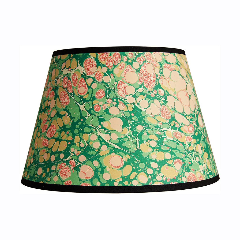 inq lampshade marbled paper green stone