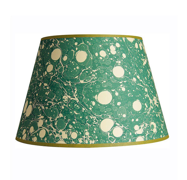 inq lampshade marbled paper jade stone