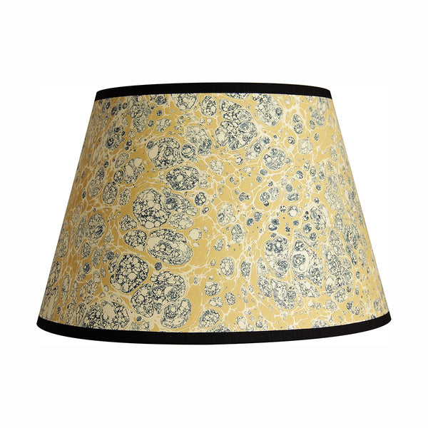 inq lampshade marbled paper ochre stormont