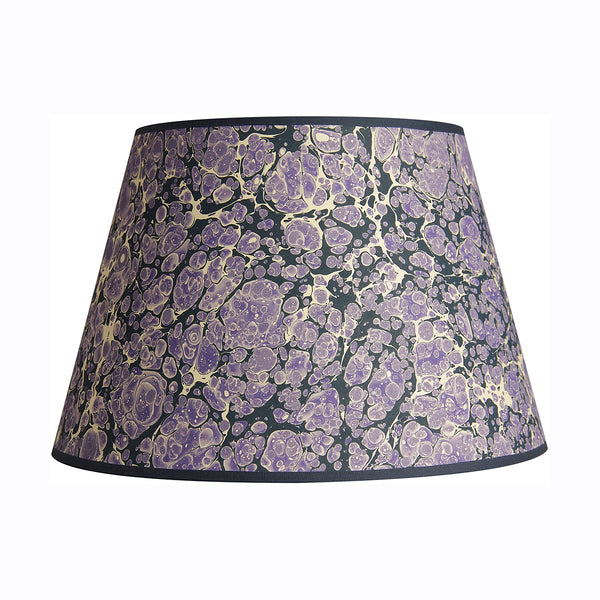 inq lampshade marbled paper purple shell