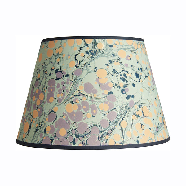 inq lampshade marbled paper turkish blue