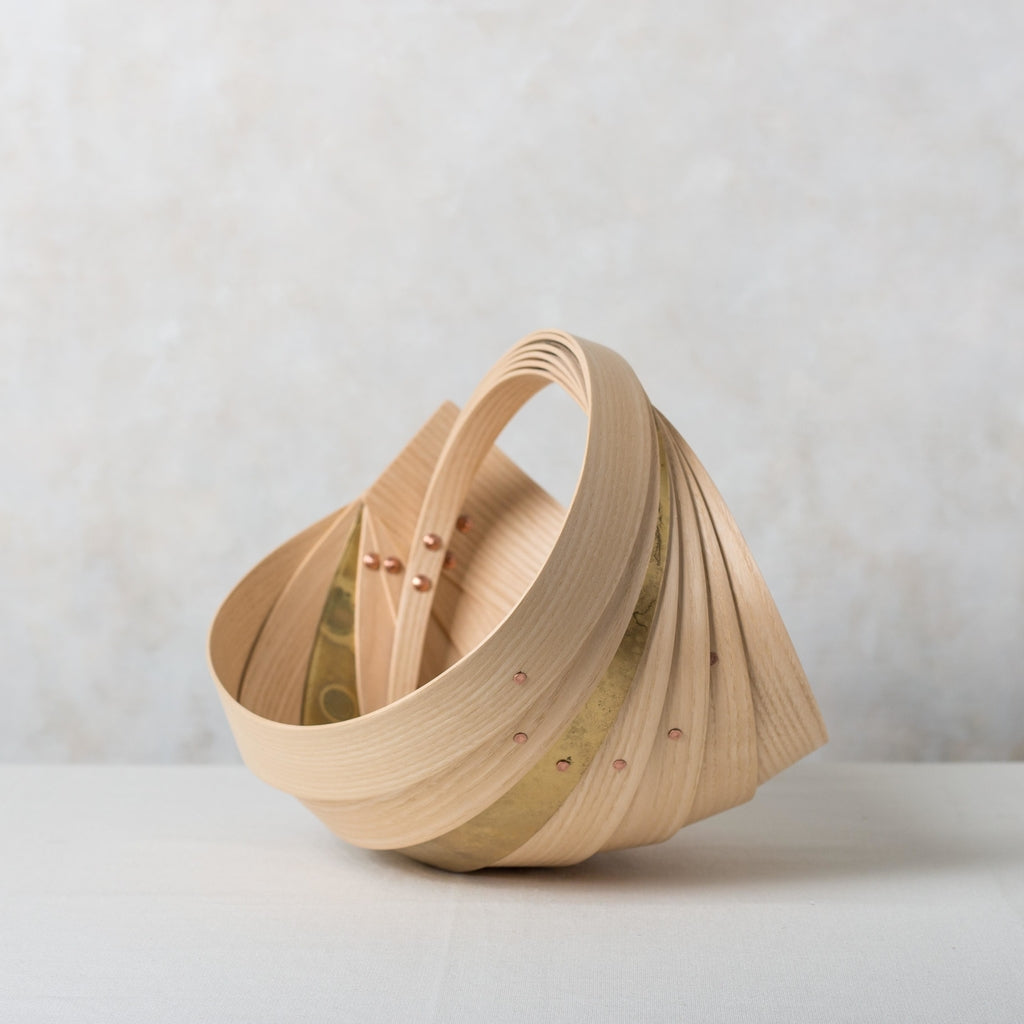 Jane Crisp Small Ash Brass Copper Trug