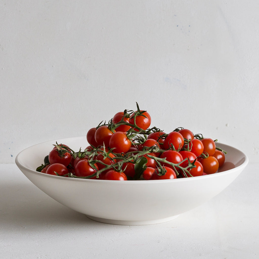 John Julian Porcelain Shallow Serving Bowl Tomatoes