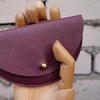 Jude Gove Leather Coin Purse Plum
